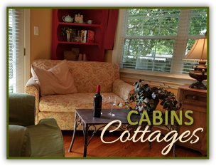 Cabins and Cottages at Rosehaven Cottages in Little Rock