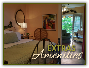 Estras & Amenities at Little Rock Cottages BnB