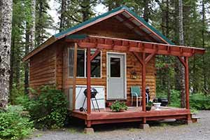 Black Bear Cabin at Bears Den Cabins in Cordova, Alaska