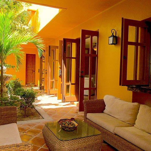 Casa Simpatica courtyard