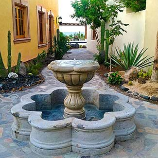 Fountain near Loreto in Mexico