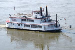 riverboat near Columns of Tunica in MS