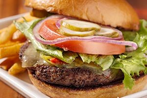 hamburger near Columns of Tunica in MS