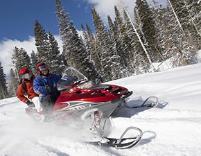 Snowmobiling near Temple View Lodge in Manti, Utah