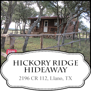 Hickory Ridge Hide away in Texas Hill Country