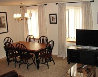 Dining Room in the 2 Bedroom Guest Apartment at Jefferson Square