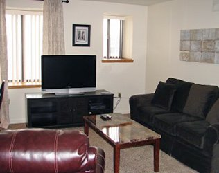 Living Room at a 2 bedroom apartment at Jefferson Square Apartments in Williamsport, PA