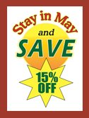Save 15% May 2017 at our website