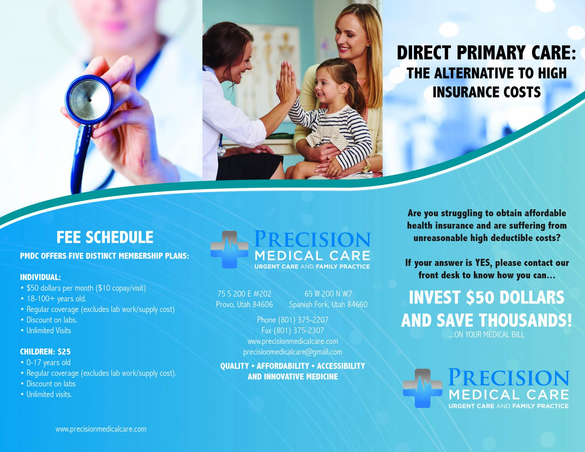 Direct Primary Care at Precision Medical Care