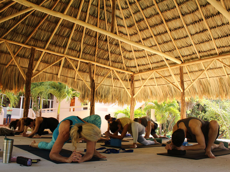 Yoga and Pilates Classes at crimson orchid Inn in Belize