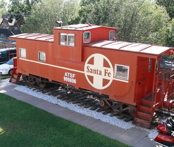 Santa Fe Caboose in the Woodrow House B&B in Lubbock Texas