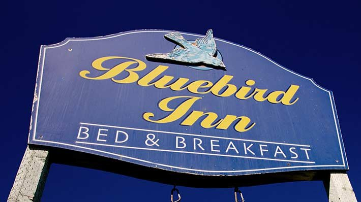 Bluebird Inn Sign