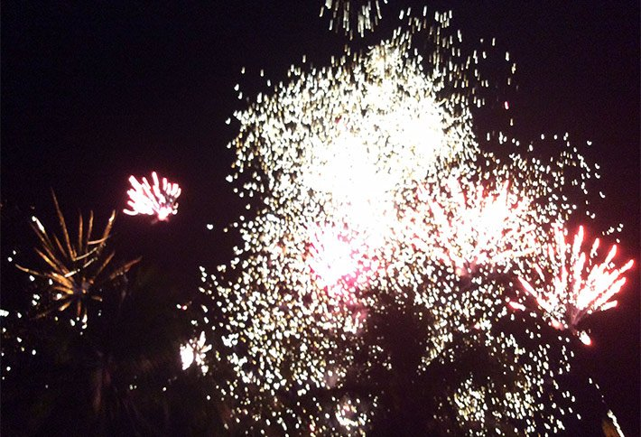 fireworks at a wedding at la gaviota tropical