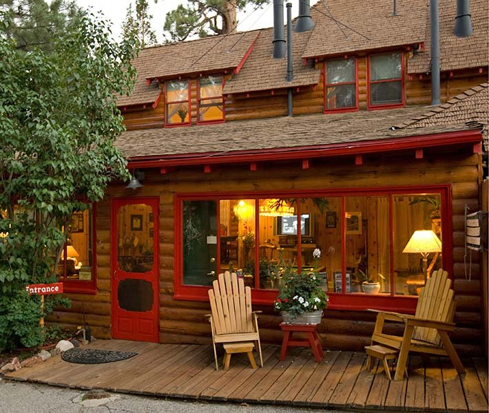 Front Porch at Gold Mountain Manor in Big Bear Lake, California