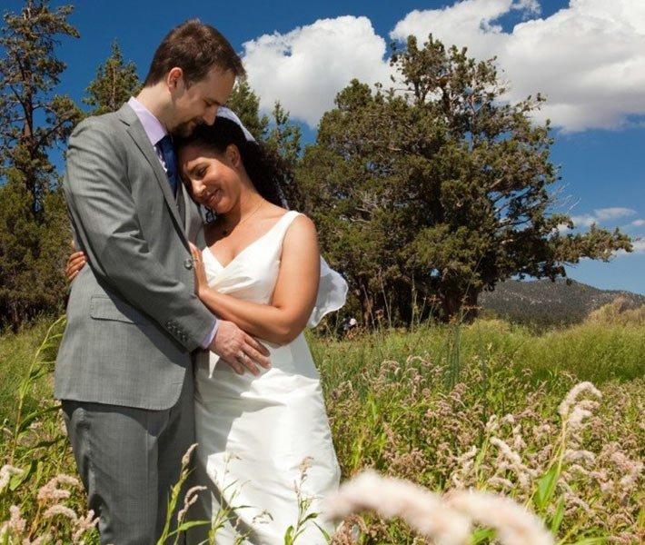 Wedding at Gold Mountain Manor in Big Bear Lake California