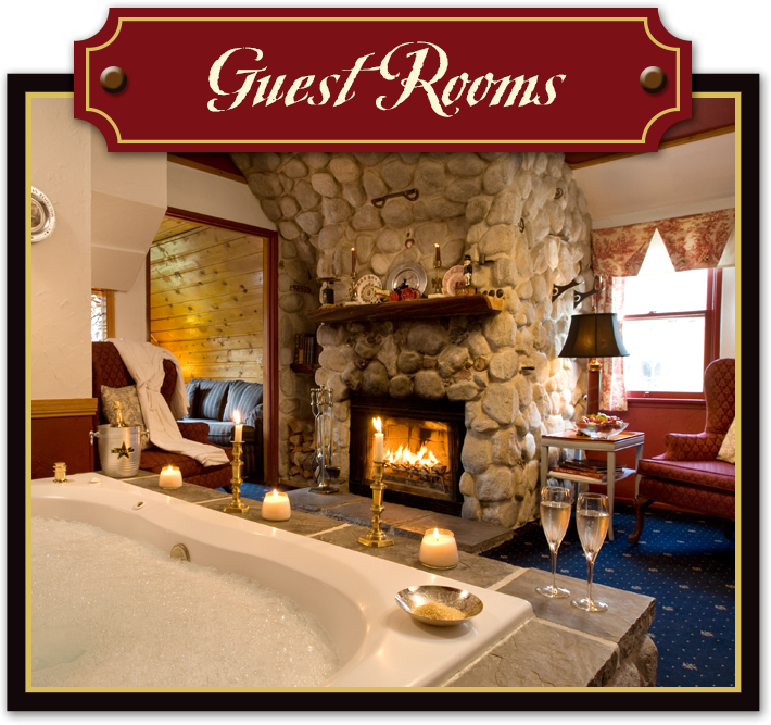 Guest Rooms at Gold Mountain Manor in Big Bear Lake California