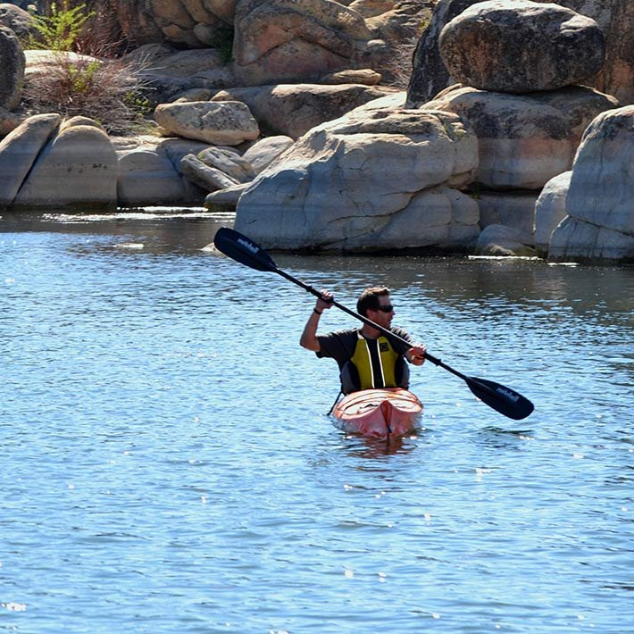 Kayaking near Gold Mountain Manor in Big Bear Lake, CA