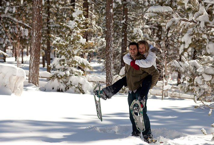 winter activities at Gold Mountain Manor in Big Bear Lake, CA