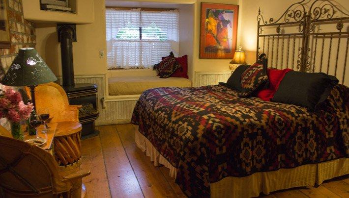 Bed TumbleWeed Room AdobeVillageGrahamInn