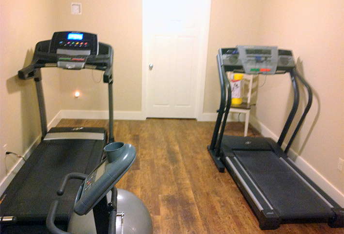 treadmills at the crossings bed and breakfast