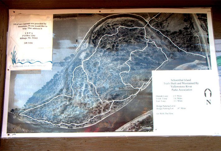 yellowstone river parks map near the crossings bed and breakfast
