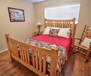 texan bedroom at the carlton club inn hotel