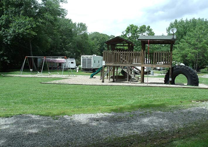 play area at Pipestem campground