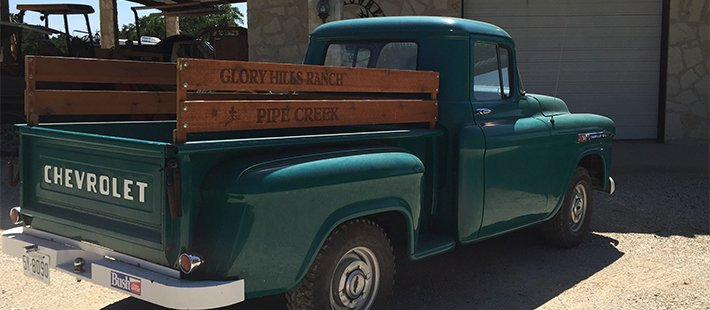 chevy truck at glory hills bed and breakfast