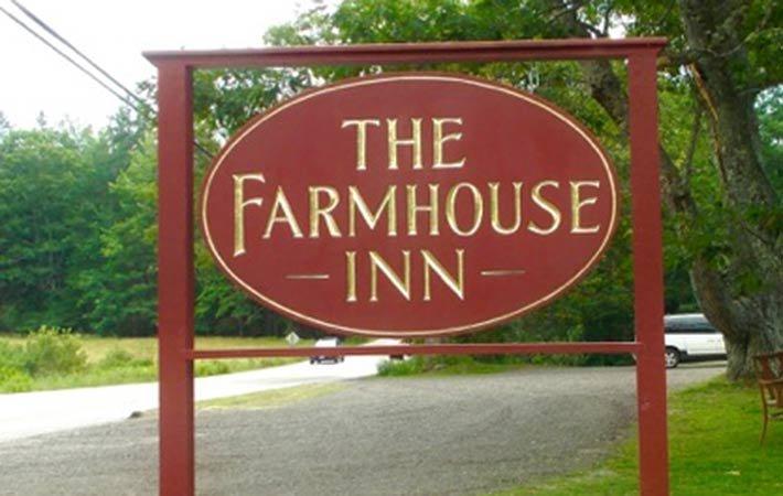 Sign at Farmhouse Inn in Blue Hill, ME