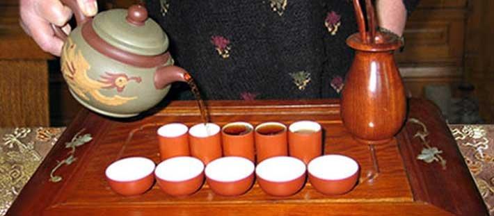 Tea tasting at Voss Inn in Bozeman, MT