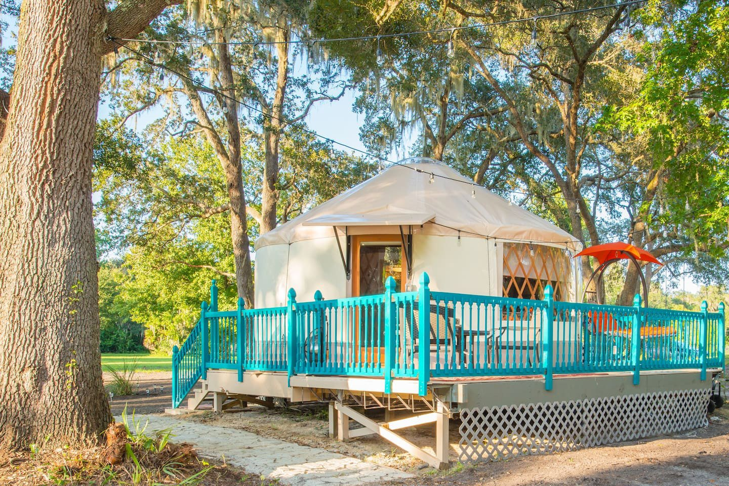 The Yurt - Geneva, FL Lodging | Danville Bed and Breakfast