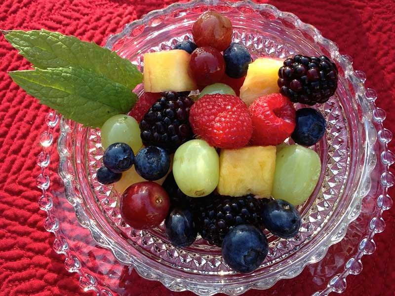 fruit bowl at Idahome B&B