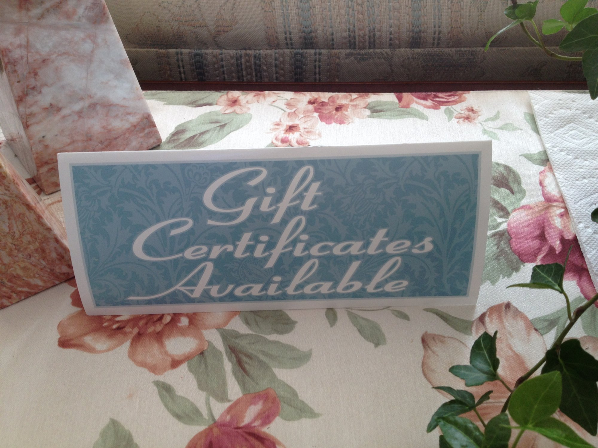 Gift Certificates at Idahome B&B