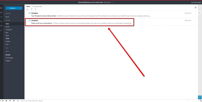 Set up a Dropbox Account 9