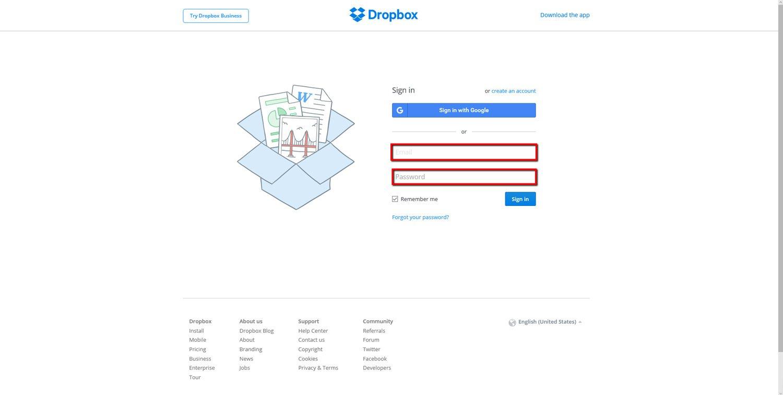 Set up a Dropbox Account 11