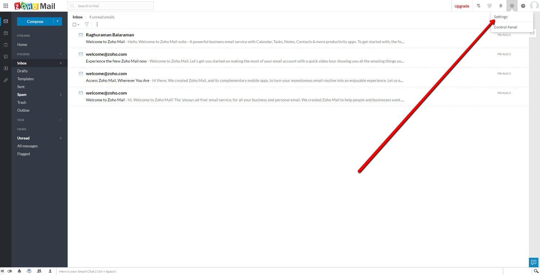 Change Zoho Mail Password 1