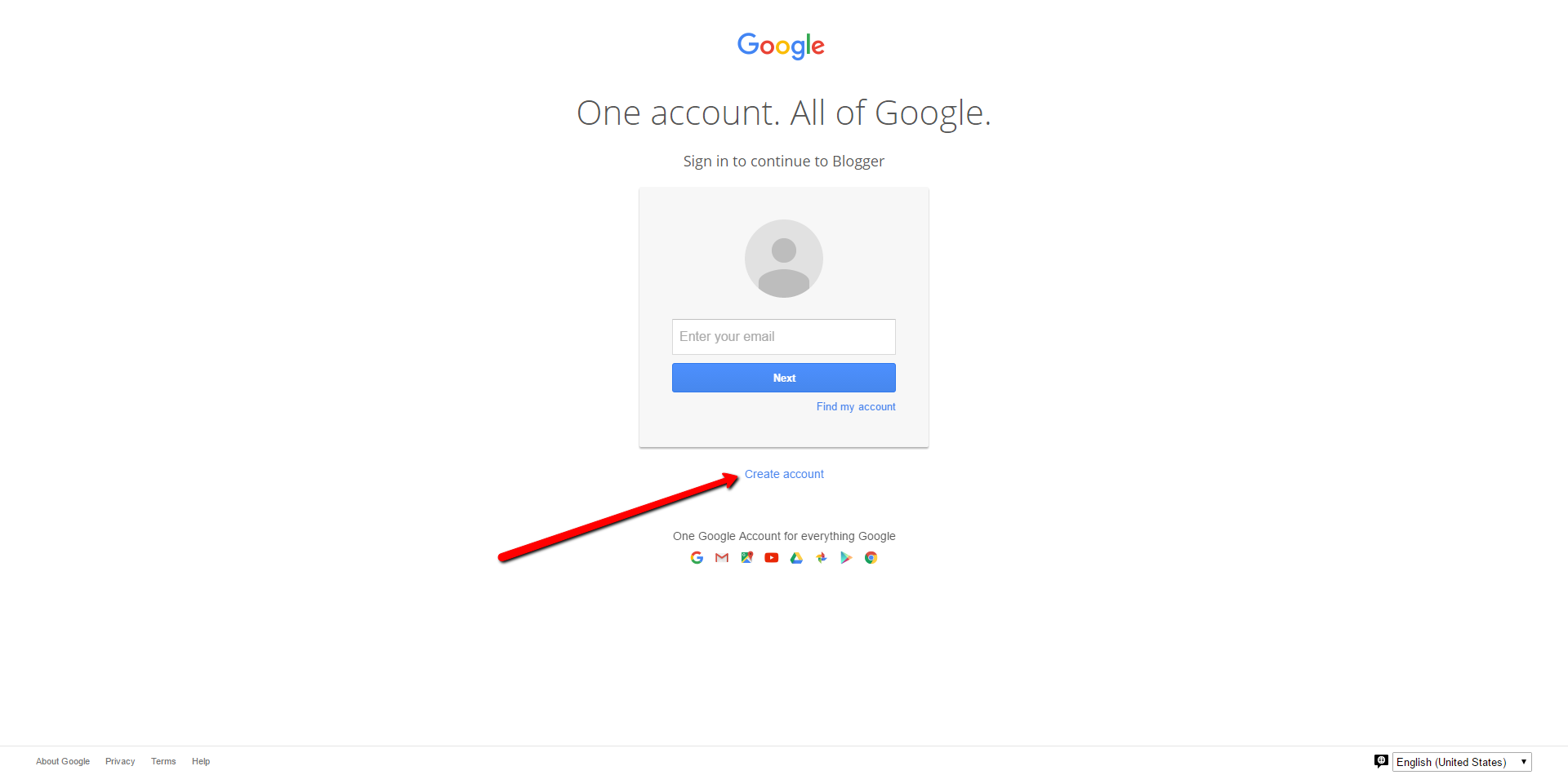 if you don't have a Google Account, create one