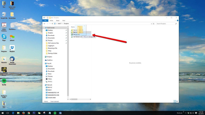 Organizing Dropbox Folders - Desktop 2