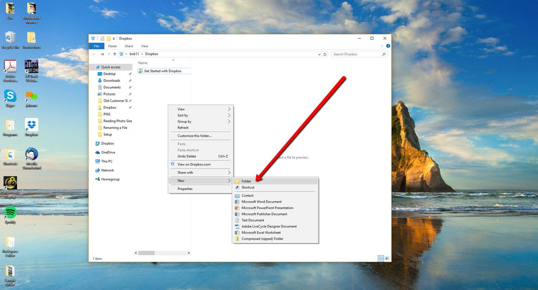 Create a new Dropbox Folder 3