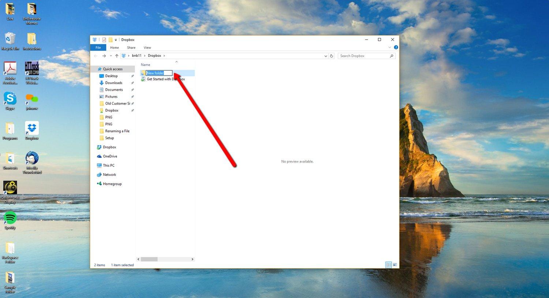 Create a new Dropbox Folder 4