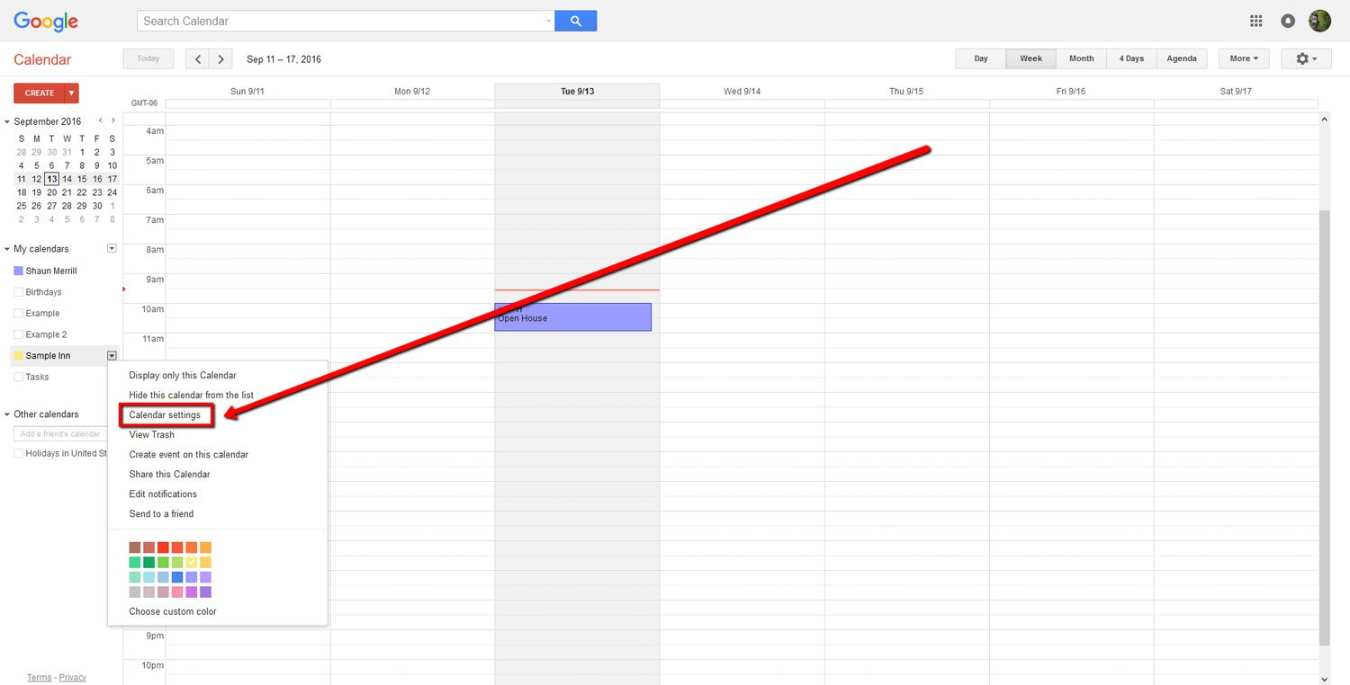 How To Embed a Google Calendar 4