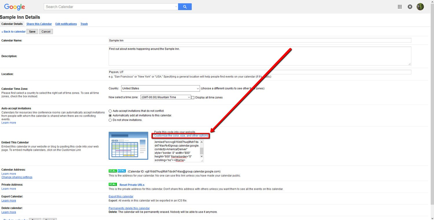How To Embed a Google Calendar 5