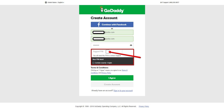 Create GoDaddy Account 5