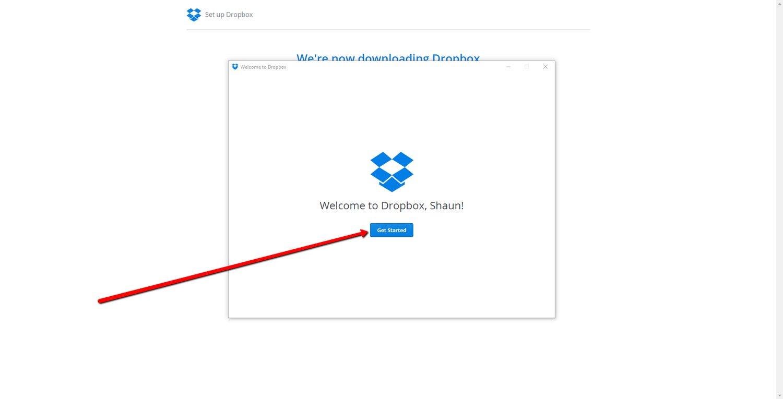 Set up a Dropbox Account 6