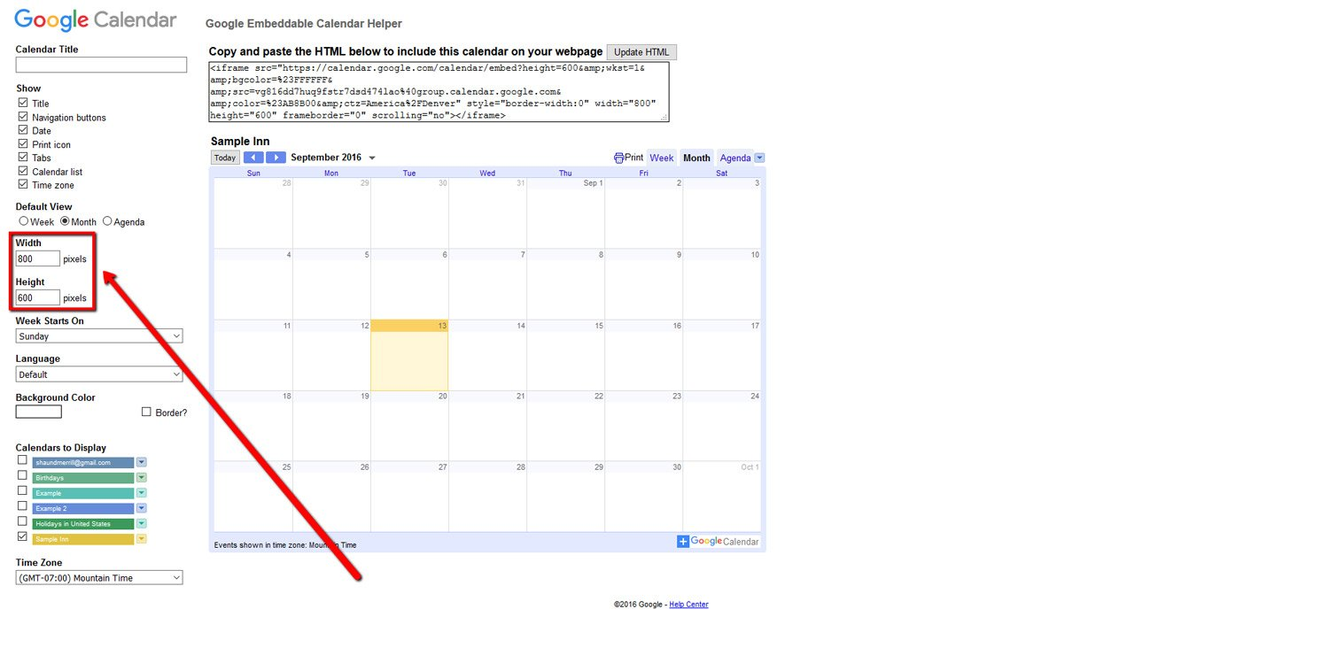 How To Embed a Google Calendar 6