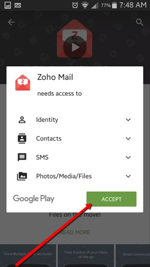 Connect ZOHO Mail to Android Devices 4