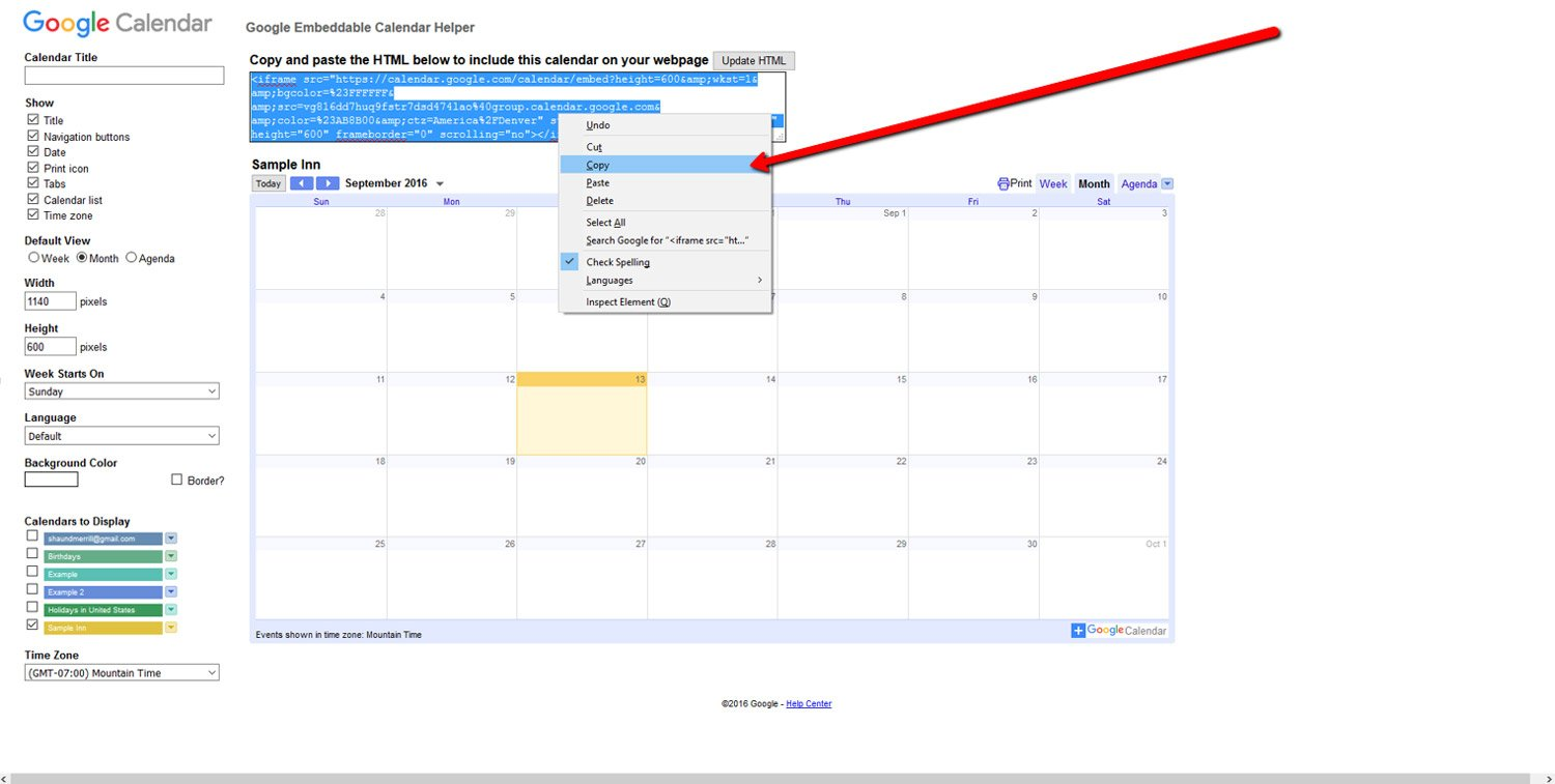 How To Embed a Google Calendar 7