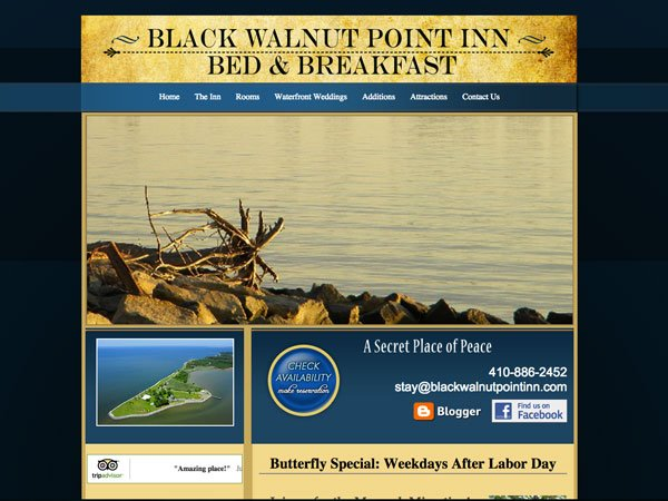 Black Walnut Point Inn Website