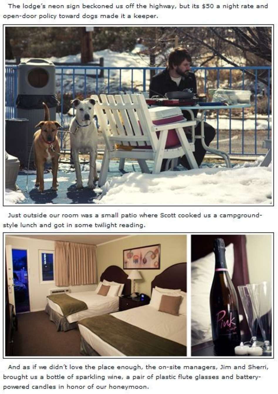 12 Legs Travel Blog article about Quail Park Lodge in Kanab, UT