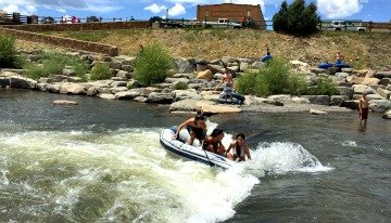 Rafting in the river in Pagosa Springs